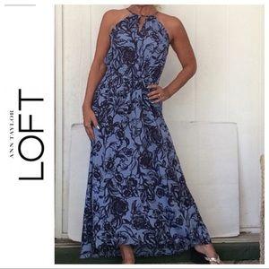 NWT LOFT BEACH FLORAL PRINT MAXI DRESS XS